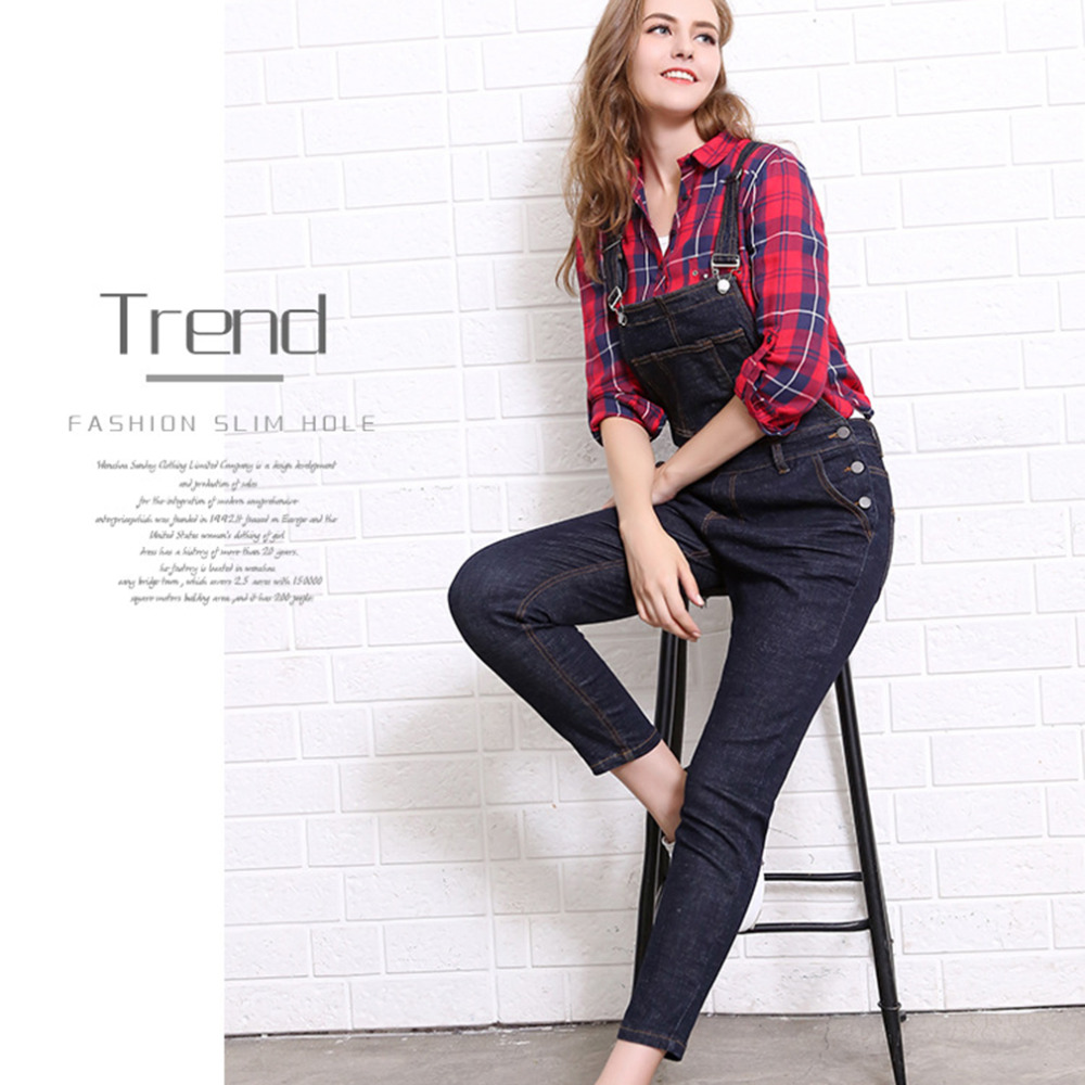ФОТО TRACK SEVEN H5190 Trendy Design Women Denim Pants European American Style Spring Women Loose Cowboy Straps Trousers