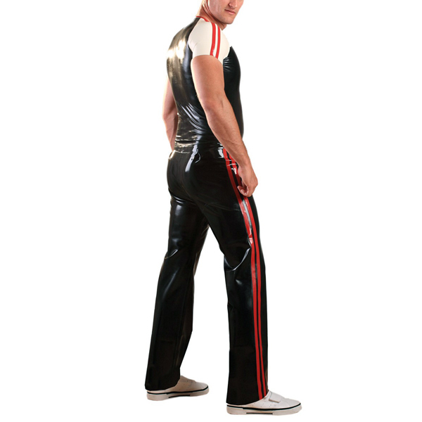 Latex Rubber Joggers - Red b