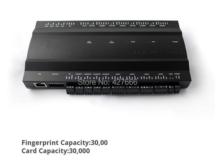 Four-door Two-Way Fingerprint Access Control Panel rfid Access Control System Inbio460 Biometric Access Control Board стоимость