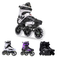 Japy Inline Skates Professional Adult Roller Skating Shoes 72-76-80mm Or 3*110mm Slalom Speed Patines Free Skating Racing Skates