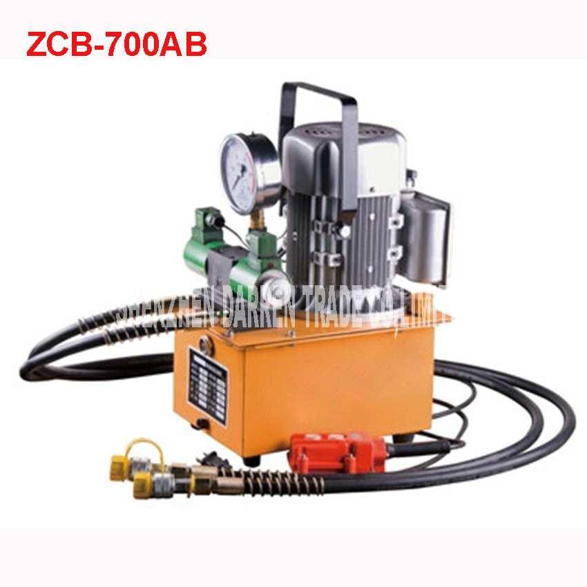 220v double action electric hydraulic pump zcb 700ab tank for Electric motor hydraulic pump