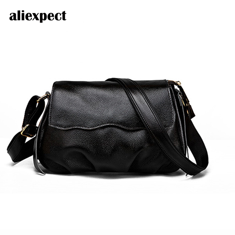 2018 Summer New Korean Fashion Solid Color Leather Female Bag Head Litchi Pattern Leather Shoulder Messenger Bag free shipping new fashion brand women s single shoulder bag lady messenger bag litchi pattern solid color 100