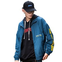 Bormandick Autumn Hooded Jacket Men Casual Patchwork Windbreaker Male Outwear Zipper Thin Coat Brand KXP18-CJ01 60
