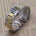 Plata Y Color de Oro Pulsera de la Venda de reloj de moda cinturón de accesorios de mariposa hebilla del despliegue 18mm 20mm 21mm 22mm 23 24mm