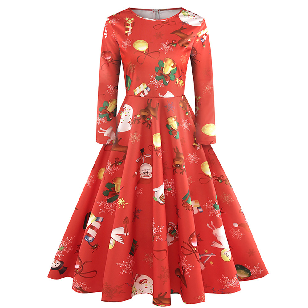 short long back red pink Middle sleeve Dresses wedding party O-Neck Print dress prom gown wholesale clothingA40