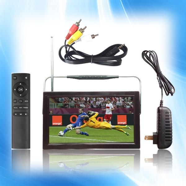 Free shipping Portable 9inch mstar DVB T DVB T2 LCD Digital Mini TV