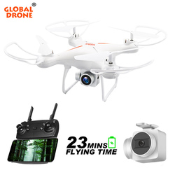 Global Drone GW26 RC Helicopter FPV Quadcopter with Camera 1080P High Hold Long Time Fly Dron 20-23 mins Drones with Camera HD