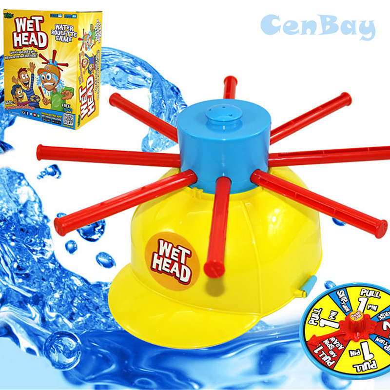 Family Fun Wet Head Game Wet Hat Water Challenge Toys Roulette Game Party Prank Game Parent-Child Interactive Toy for Kids Gifts