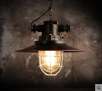 Wrount Iron Edison Vintage Industrial Lamp Pendant Lights For Dinning Room In Retro Loft Style,Lamparas Colgantes