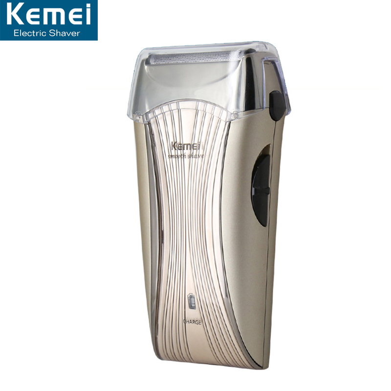 Kemei 710 Electric Shaver Reciprocating Razor Rechargeable One Blade Shaving Razors For Men Face Beard Care 3D Floating Trimmer kemei 220v washable reciprocating electric shaver men rechargeable beard razor trimmer 3d floating triple blade shaving machine