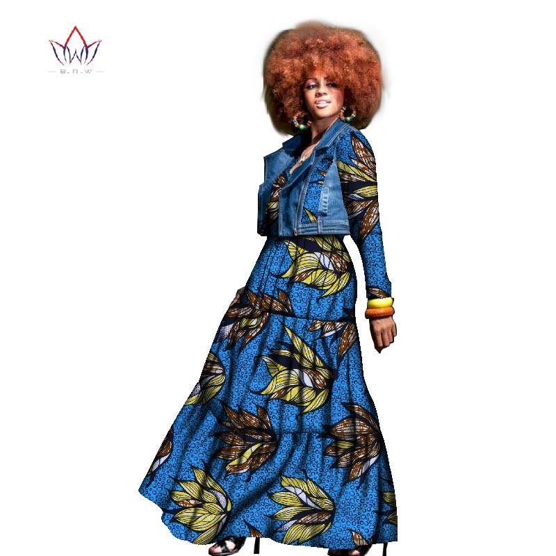 2017 Höstafrikansk klänning för kvinnor två stycken frack och - Nationella kläder - Foto 3
