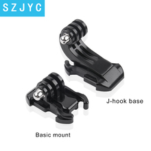 gopro accessories Camera Quick-Release Helmet Mount Base Adapter Buckle J-hook For Gopro HD Hero 7/6/5/4/3+/3 Wholesale j coperario fantasia for 3 viols rc 7