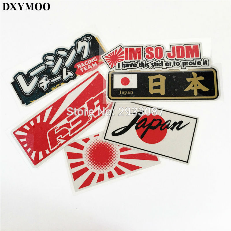 6 Styles Car Styling Japanese JAPAN Flag IM SO JDM RACING TEAM Motorcycle Helmet Car Sticker Decals