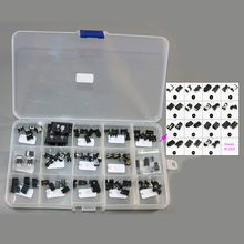 Hot 15models x 5 = 75pcs Tablet PC DC Power Jack socket+1pc *  15 Grid Plastic Adjustable Transparent Storage Box Case Portable