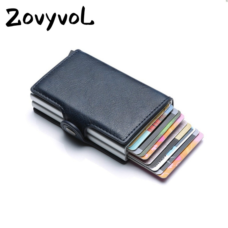 ZOVYVOL 2019  Unisex Metal Blocking RFID Wallet ID Card Case Aluminium Travel PurseWallet Business Credit Card Holder Wallet