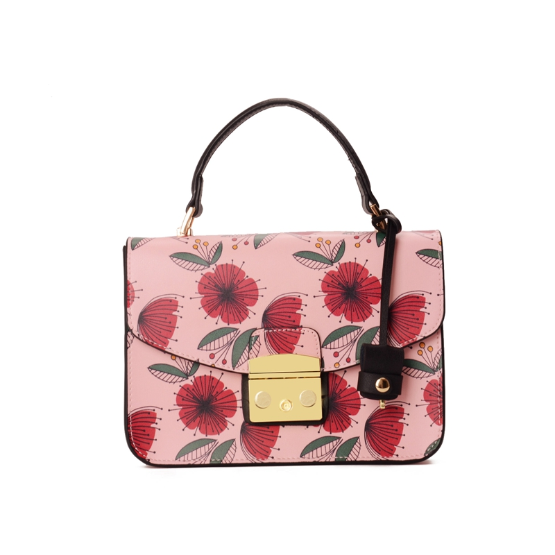 New Luxury Handbags Women Bags Designer Printing Sakura Tote Bag Flap Lock Women Leather Handbags Crossbody Bags For Women Bolsa qweek luxury handbags women bags designer 2017 pu leather shoulder bag female printing bolsa feminina mini flap crossbody bags