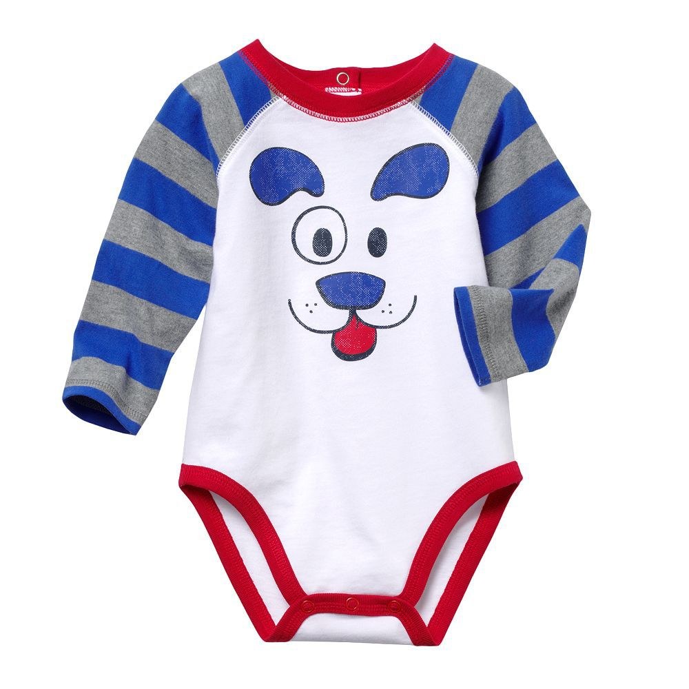 Baby Bodysuit 2018 New Design Cute Striped Longsleeve Infant Bodysuits Cartoon Dog Printed Newborn Baby Clothes Overalls ...
