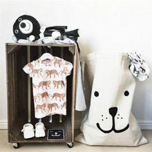 2016 Popular Heavy Kraft Paper Bag Children Room Shoe Laundry Basket Organizer Bag Storage Bag For Toy And Baby Clothings