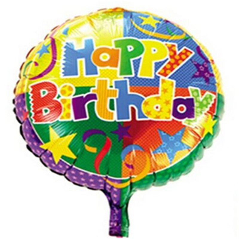 100 pcs/lot happy birthday balloon 18 inch round happy birthday decoration bubbl