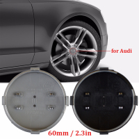 20Pcs Lot 60mm Black Gray Car Wheel Center Hub Caps Cover Logo Emblem Badge For Audi