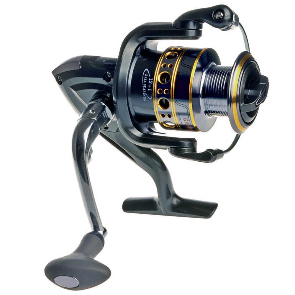 Hot Koop! Soloplay 12 + 1BB Spinning Visserij-reel eenrichtingsverkeer Clutch Wiel GA Karper Ijsvissen Gear 5.5: 1 Real 13BB Bait Casting Reel
