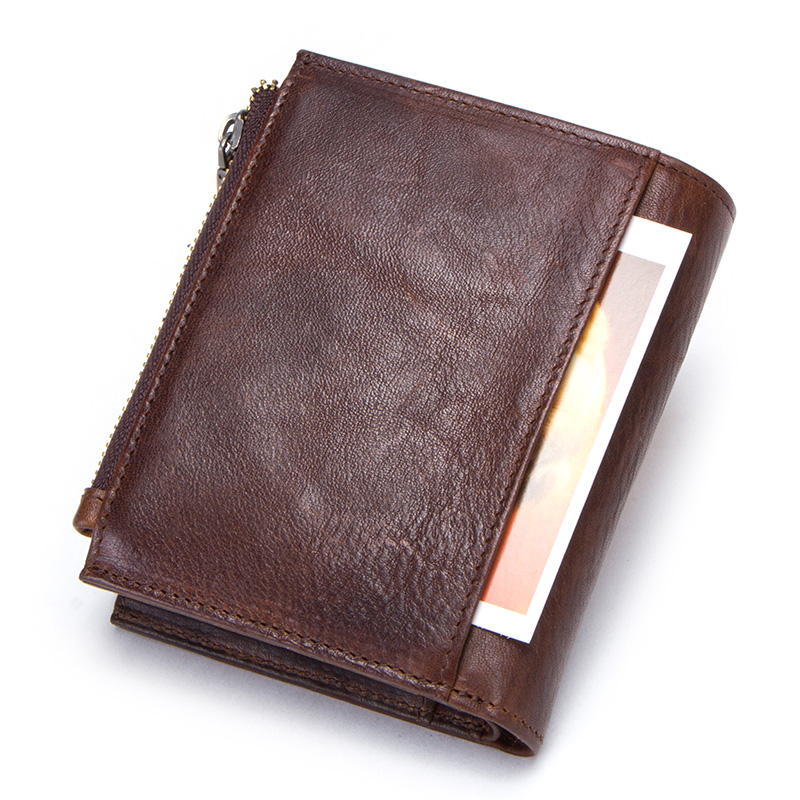 CONTACT'S 100% cow leather men's wallet RFID male portmane short cuzdan mens card holders coin purse cartera hombre man's walet 1