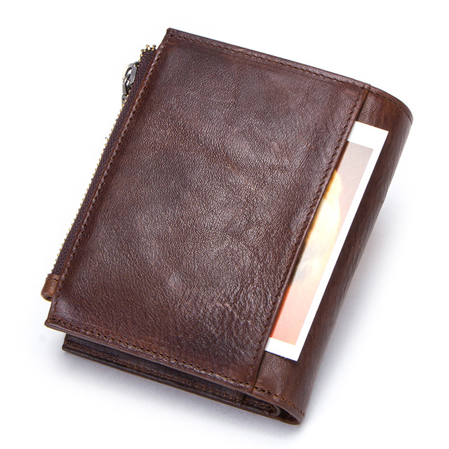 CONTACT'S 100% cow leather men's wallet RFID male portmane short cuzdan mens card holders coin purse cartera hombre man's walet 1