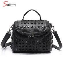 Fashion Rivets Women Handbags High Quality PU Leather Handbags Female Crossbody Bags For Women Casual Tote Bags Ladies Hand Bags