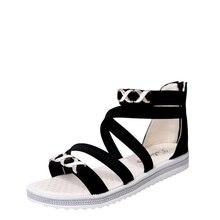 Outdoor Summer flat Sandals Women casual Beach shoes fashion Light Weight  Style black JINBEILE