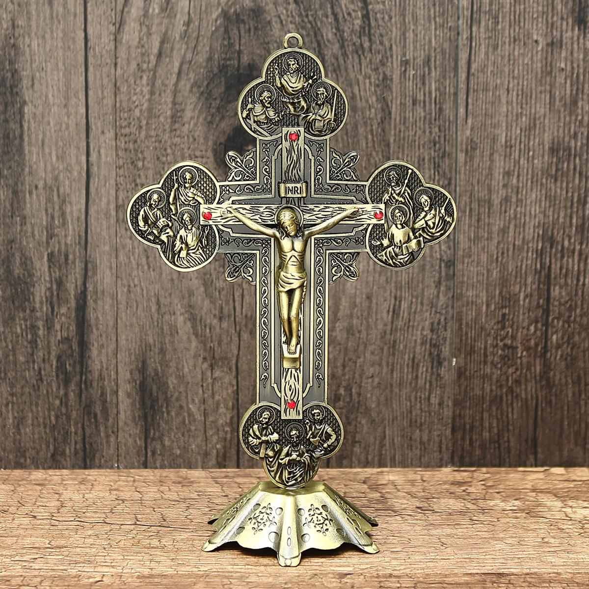 Ya.x Wooden Cross Iglesia Reliquias Crucifijo Jesucristo En El Soporte Cruz Crucifijo De La Pared Casa Antigua Capilla Decoració Back To Search Resultsjewelry & Accessories
