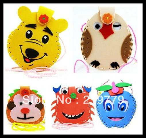 Us 25 8 Make Handmade Backpack 3d Cartoon Animal Eva Puzzle Sticker Children S Gift Bags Kids Girl Eva Foam Craft Kit Arts Crafts Bag In Puzzles