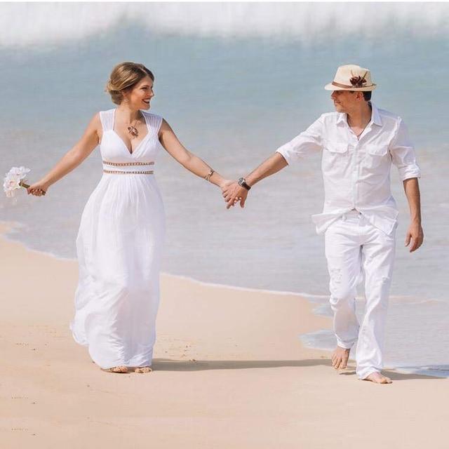Ever Pretty Cheap Chiffon Wedding Dress Elegant A Line V Neck Flare Sleeve Long Beach Bridal Gown 2019 Robe De Mariee EP09890WH 3