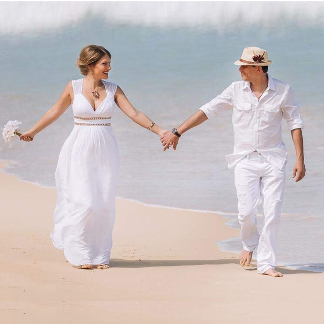 Ever Pretty Cheap Chiffon Wedding Dress Elegant A Line V Neck Flare Sleeve Long Beach Bridal Gown Robe De Mariee EP09890WH