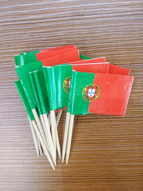 Portugal Toothpick Flags 300Pcs Paper Food Picks Cake Toothpicks