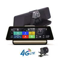 10 New 4G Full Touch IPS Car DVR Dual Lens Camera GPS Navigation Android 5 1