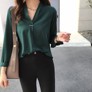 women chiffon blouse shirt long sleeve women shirts fashion womens tops and blouses 2019 3XL 4XL plus size women tops 1681 50 3