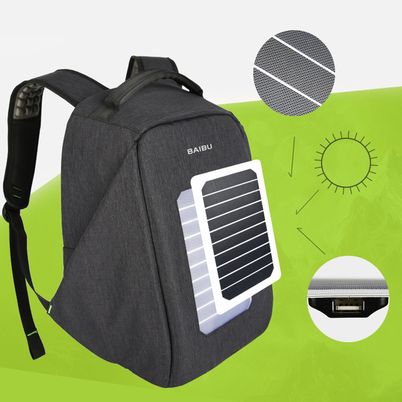 Solar Charging Men Backpack Waterproof Oxford Travel Business Bags for 16 Inch Laptop Fashion Large Capacity anti thief Backpack