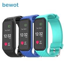 Bewot Smart Band Цвет ЖК-дисплей Дисплей для женщин мужчин Heart Rate Мониторы Bluetooth SmartBand шагомер браслет для Фитнес