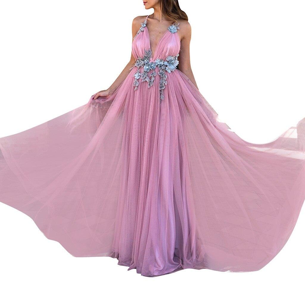 Женское свадебное платье на бретельках с v-образным вырезом, элегантное, праздничное, вечернее, тонкое кружевное платье, женское длинное пла...