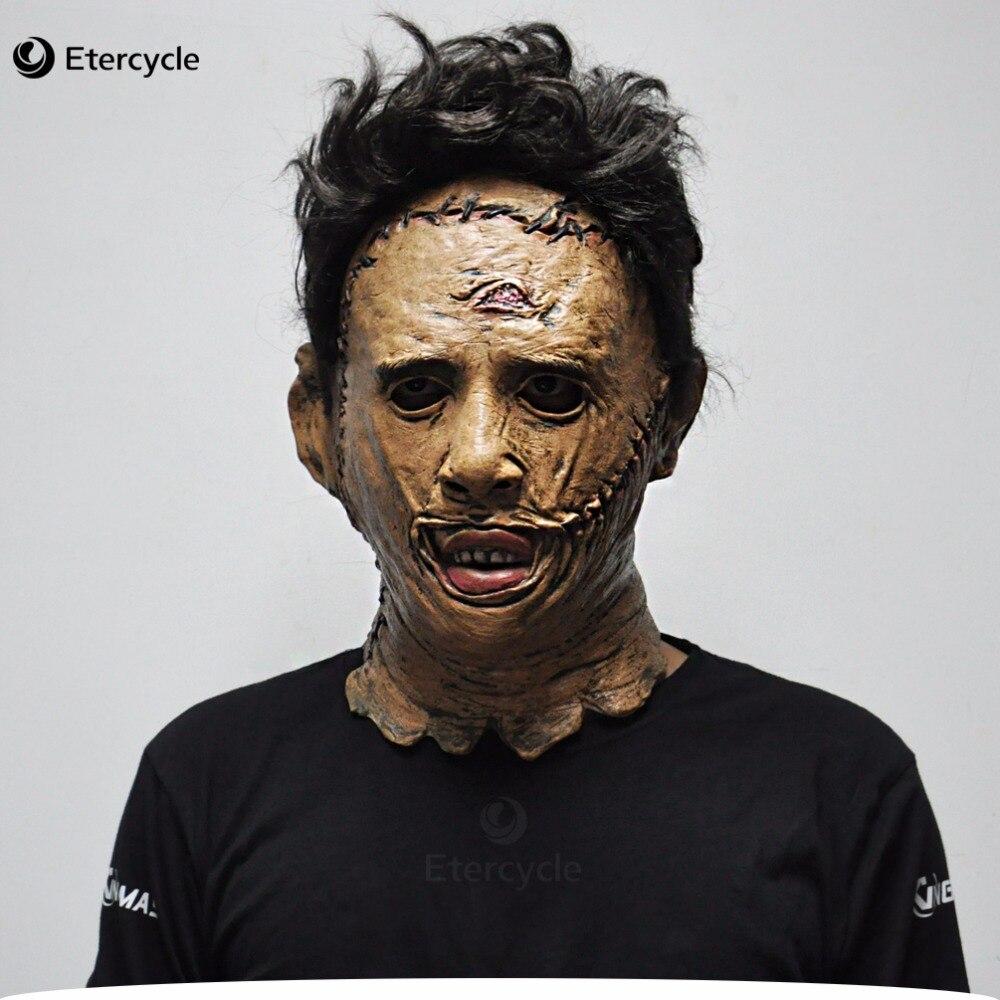 Die Texas Chainsaw Massacre Leatherface Masken Scary Movie Cosplay Halloween Kostüm Requisiten Hochwertigen Spielzeug