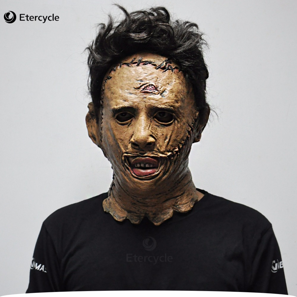 The Texas Chainsaw Massacre Leatherface Masks Scary Movie Cosplay Halloween Costume Props High Quality Toys