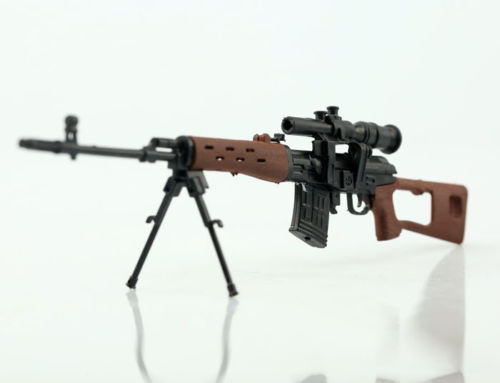 Kids Gift 1/6 Scale SVD Sniper Rifle Gun Model Toy Weapon For 12