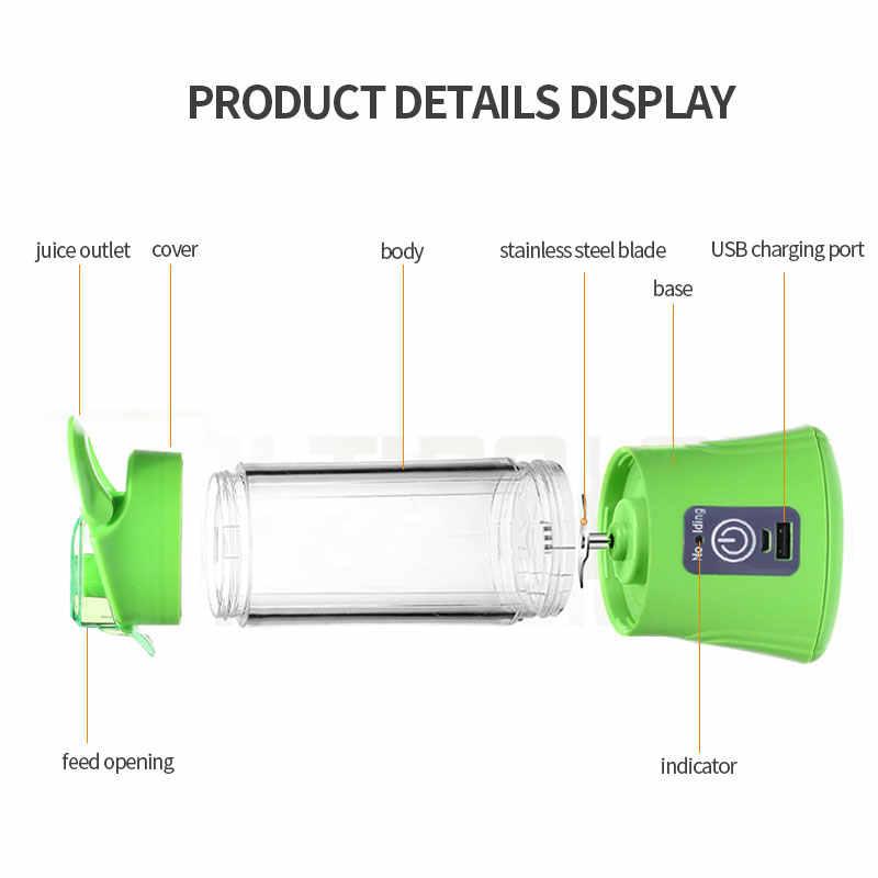 TINTON VIDA Modo de Carregamento USB Função de Carregamento Portátil Tesouro Pequeno Espremedor de Frutas Liquidificador Ovo Batedor Misturador