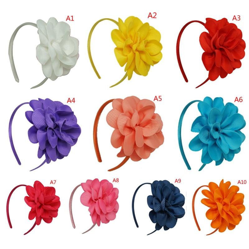 1 Pcs Denti Di Plastica Del Nastro Hairbands Grande Fiore Archi Dei Capelli Della Fascia Del Cerchio Per Il Capretto Ragazze Accessori Per Capelli