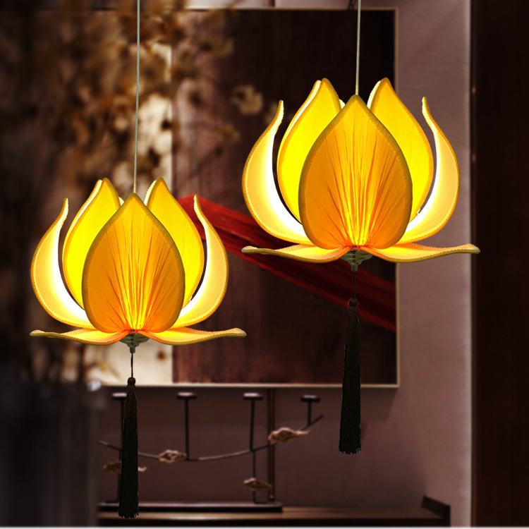 Modern e27 led bulb lotus shape chandelier pendant ceiling lamp modern e27 led bulb lotus shape chandelier pendant ceiling lamp shade hanging light lampshade diy home living room bedroom decor in pendant lights from aloadofball Image collections