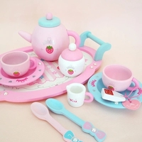 New girl giftL Mother Simulation Wooden Tea Garden Strawberry Children Toys