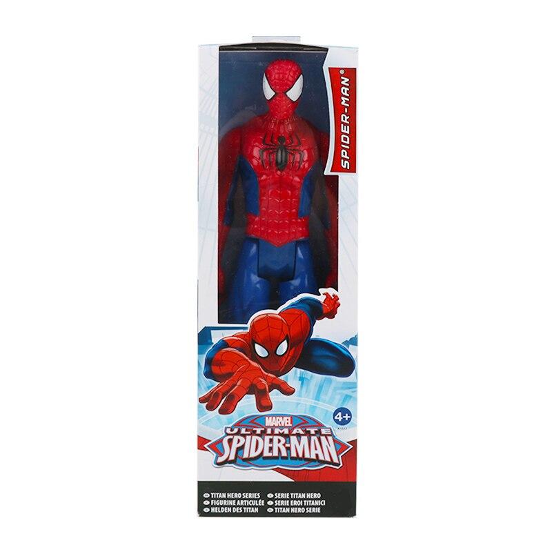 30 см Marvel Мстители эндшпиль танос Человек-паук Халк Железный человек Капитан Америка Тор Росомаха Веном Фигурка Игрушки Кукла Детская - Цвет: spiderman with box