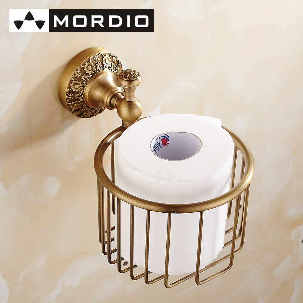 Free Shipping Toilet Paper Holder And Dispenser Wall Mount Brushed Solid Brass Antique Bronze