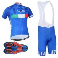 ITALIA 2018 PRO Team Cycling Jersey Gel Pad Bike Shorts Set MTB Ropa Ciclismo Sobycle Mens