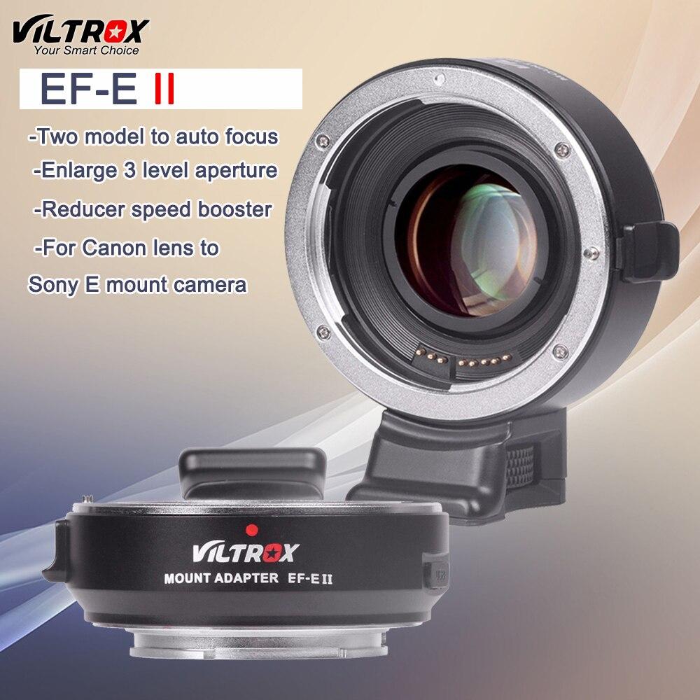 VILTROX NF-E Monte Adaptador de lente focal Reductor velocidad Booster Para Cámara Sony